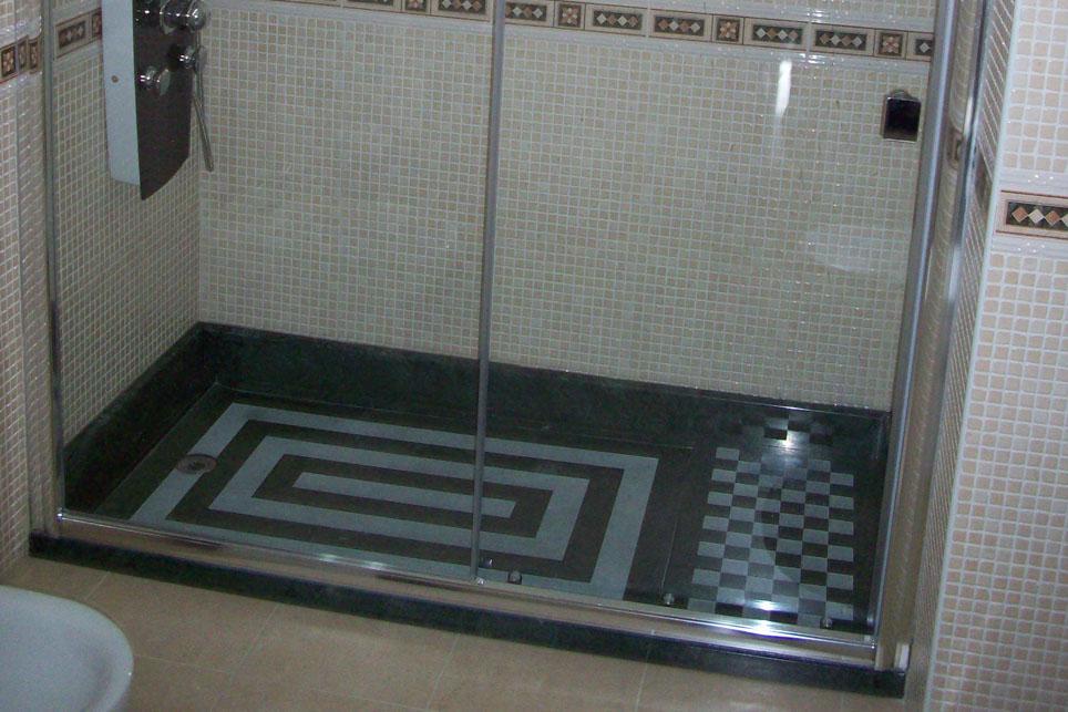 Plato de ducha con zona de secado m rmoles santo domingo - Plato de ducha silestone ...