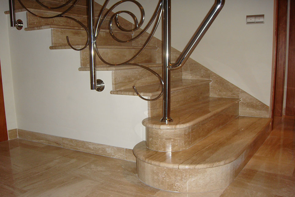 Daino Reale Marble Staircase With A Round Trim M 225 Rmoles