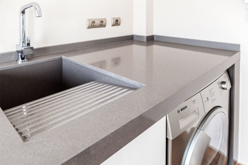 Silestone washing sinks m rmoles santo domingo for Pilas para lavar