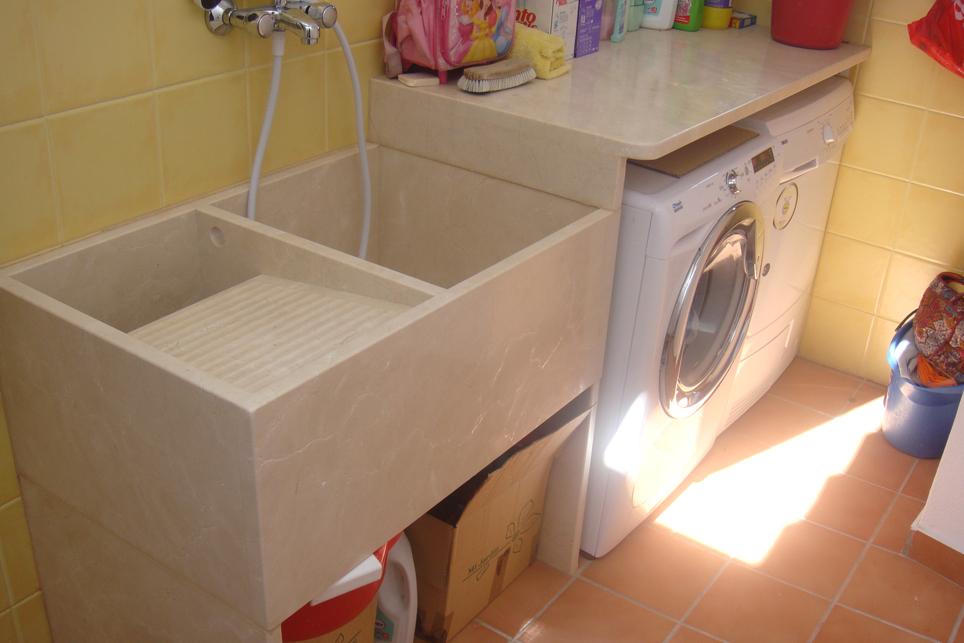 Pila de lavar tradicional a medida m rmoles santo domingo for Pilas de lavar con mueble