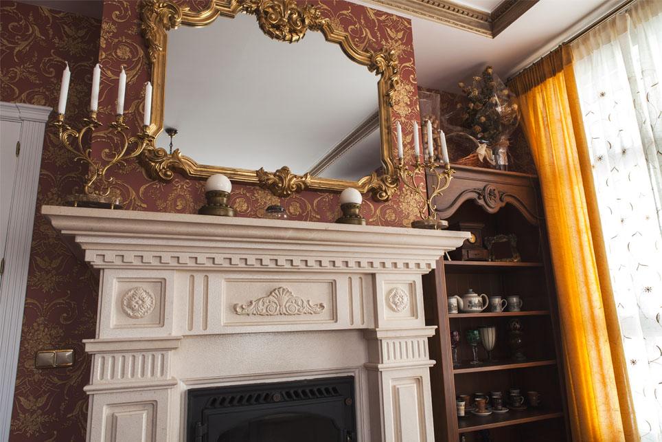 Tallados molduras y agallones en chimenea m rmoles - Molduras de marmol ...