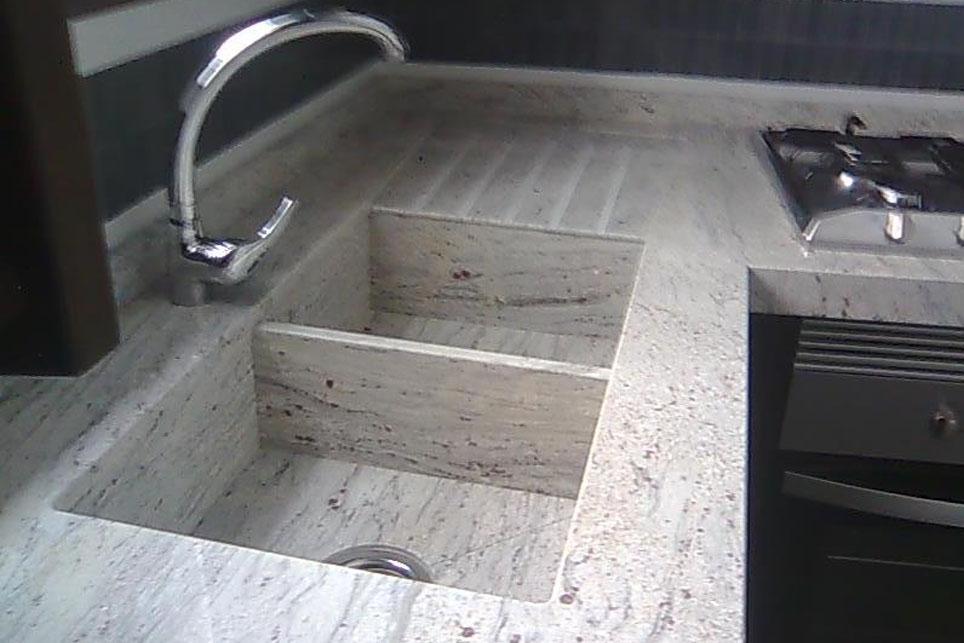 Fregadero integrado doble a cuatro aguas m rmoles santo domingo - Fregadero marmol ...