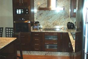 Sivacashi granite countertop with two level trim ...